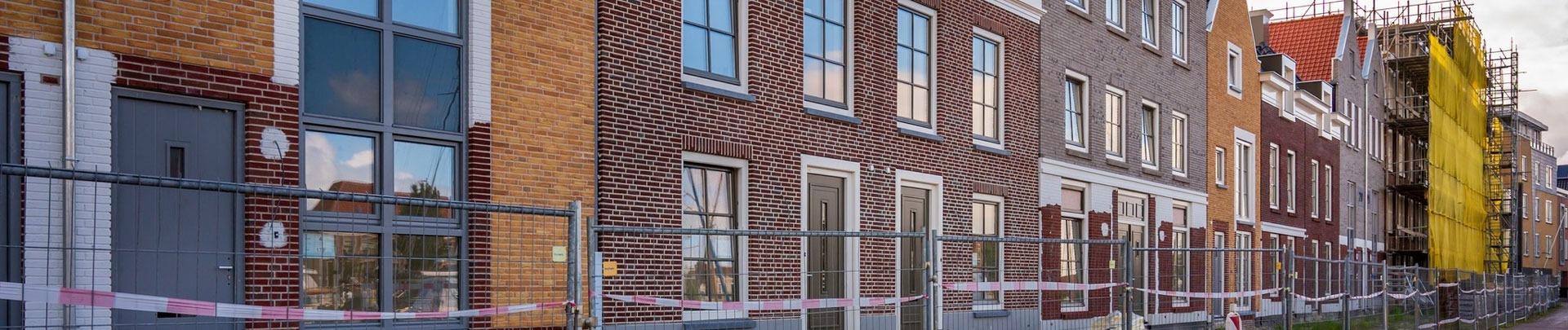 Huizen in Harlingen die worden verbouwd